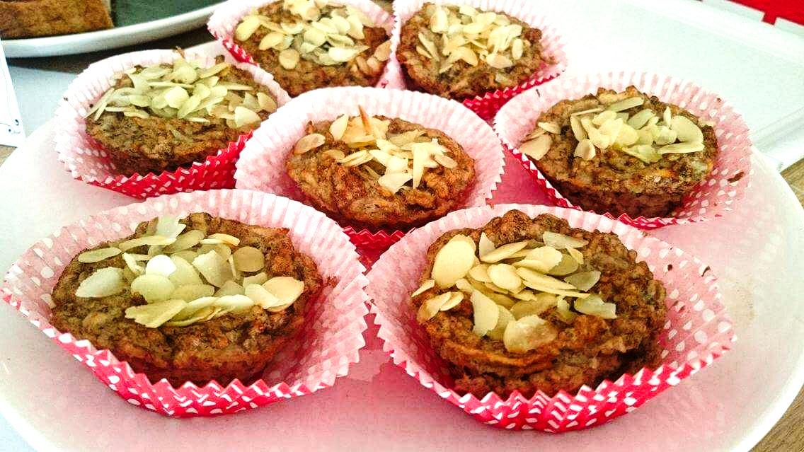 Banánovo-jablkové muffiny bez múky
