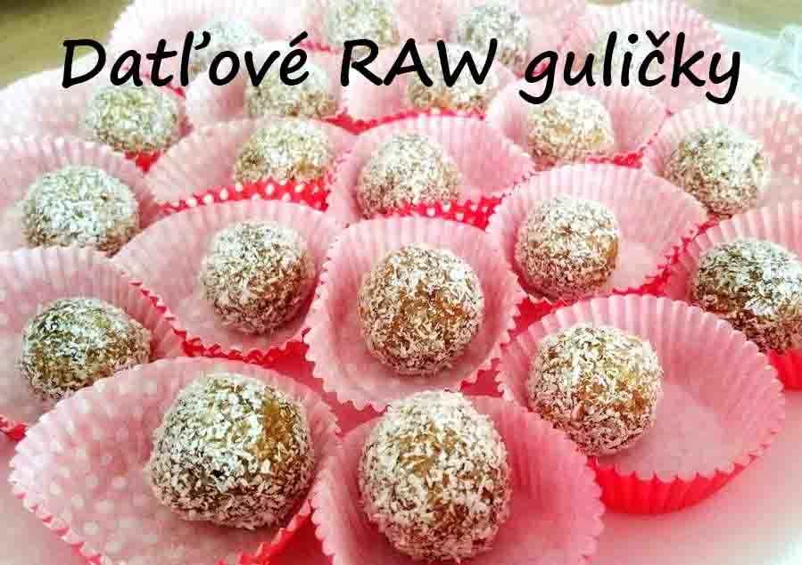 Recept: Datľové raw guličky